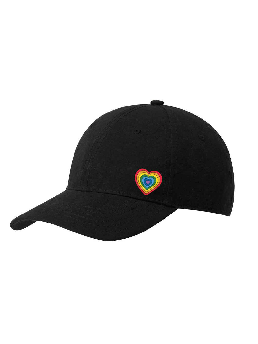 Adult Rainbow Heart Cap - COLOURS