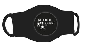 Single Face Covering - Be Kind Be Scary Circle Spiders