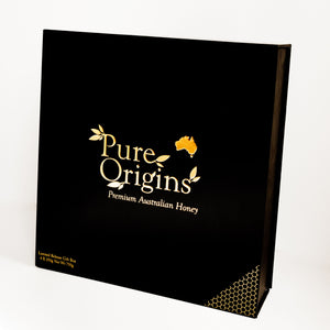 Load image into Gallery viewer, PURE ORIGINS NATIVE AUSTRALIAN HONEY 4 PACK GIFT BOX