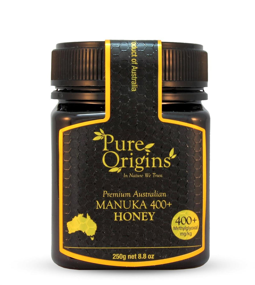 Load image into Gallery viewer, PURE ORIGINS MANUKA HONEY 400+ MGO (250g)