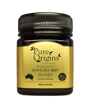 PURE ORIGINS MANUKA HONEY 800+ MGO (250g)
