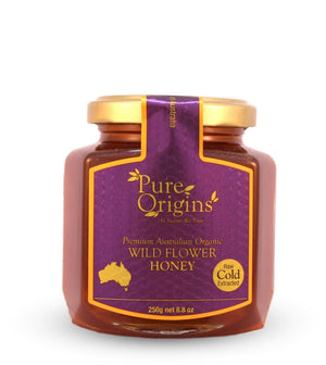PURE ORIGINS RAW WILDFLOWER HONEY (250g)