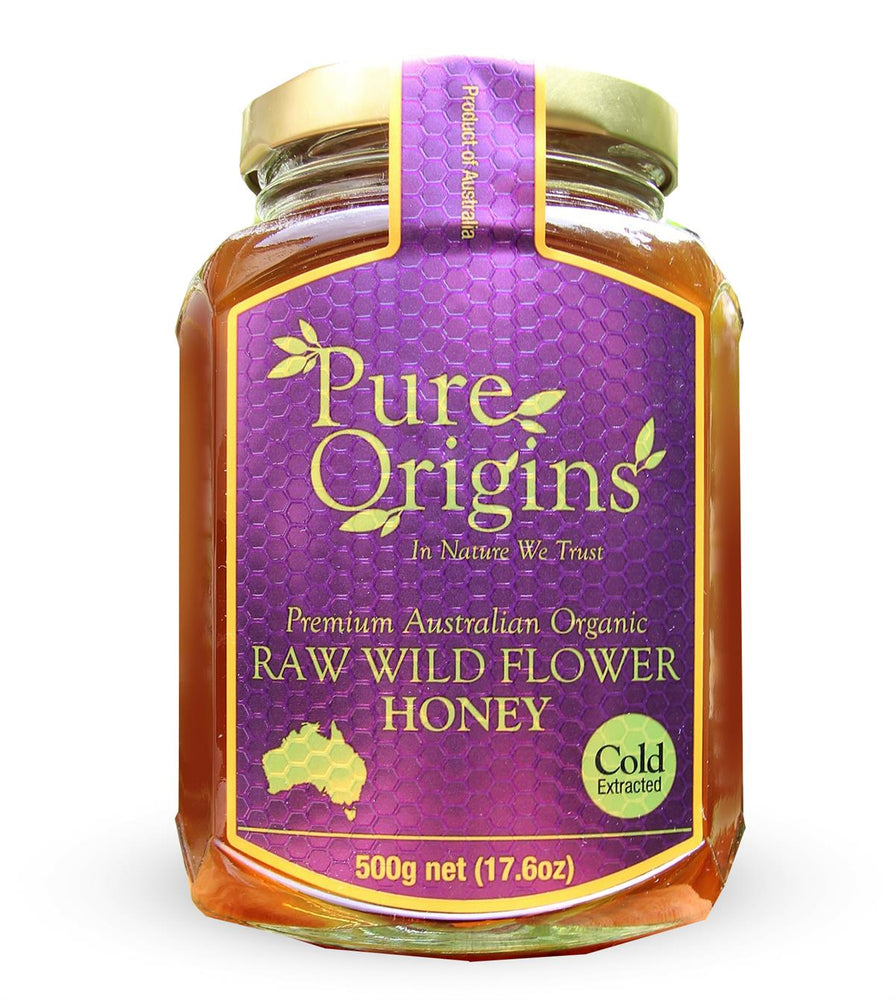 PURE ORIGINS RAW WILDFLOWER HONEY (500g)