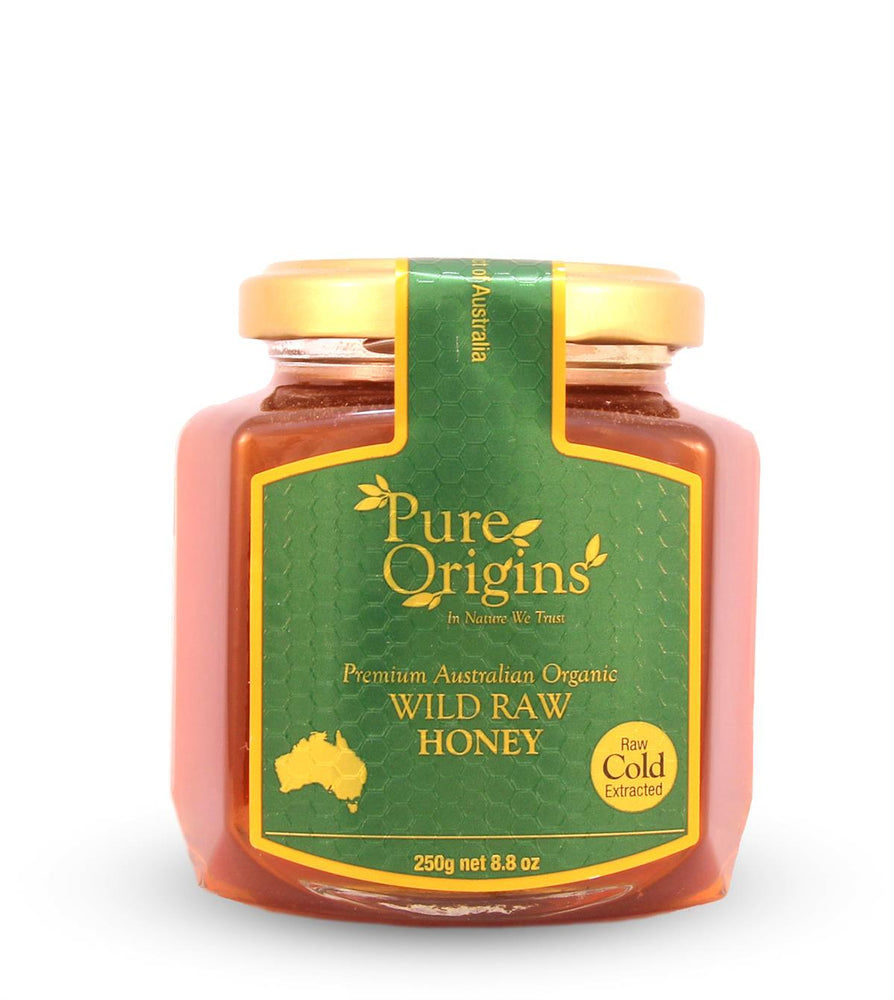 PURE ORIGINS WILD RAW ORGANIC HONEY (250g)