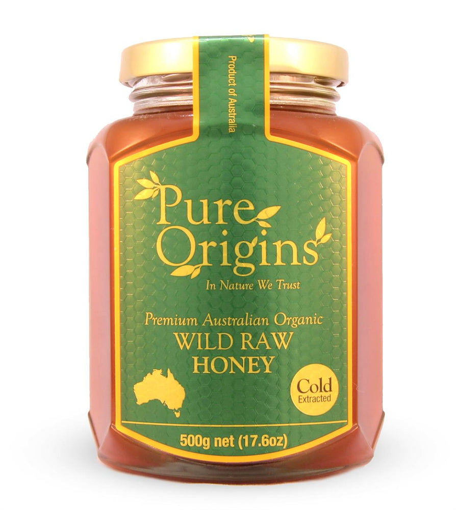 PURE ORIGINS WILD RAW ORGANIC HONEY (500g)
