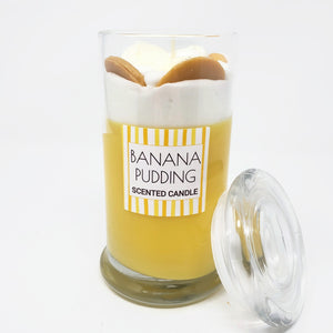 Banana Pudding Scented Candle w/ Lid