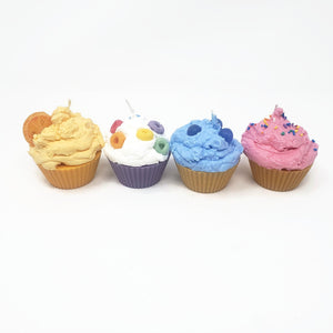 Bakery Box of Four Cupcake Candles -  Choose your Flavors