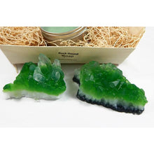 Load image into Gallery viewer, Emerald Quartz Crystal Soap & Candle Gift Set