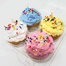 Load image into Gallery viewer, Set of Four Cupcake Candles
