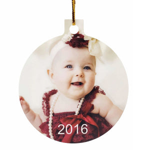 2 Sided Ball Shaped Aluminum Ornament- Customize With Your Own Image