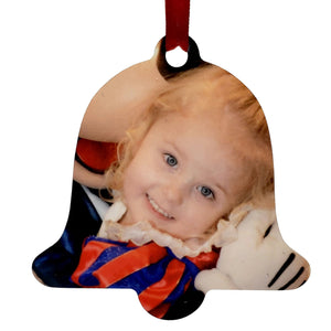 2 Sided Bell Shaped Aluminum Ornament- Customize With Your Own Image