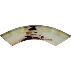 "Curved Acrylic 5""x7"" Photo- Customize With Your Own Image"