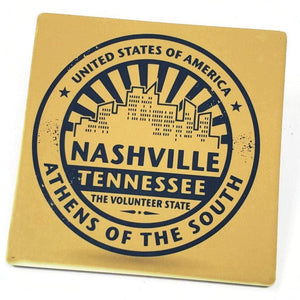 Nashville Athens of the South Sandstone Coaster