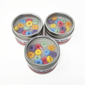 Fruit Loops Style Scented Candle Tin