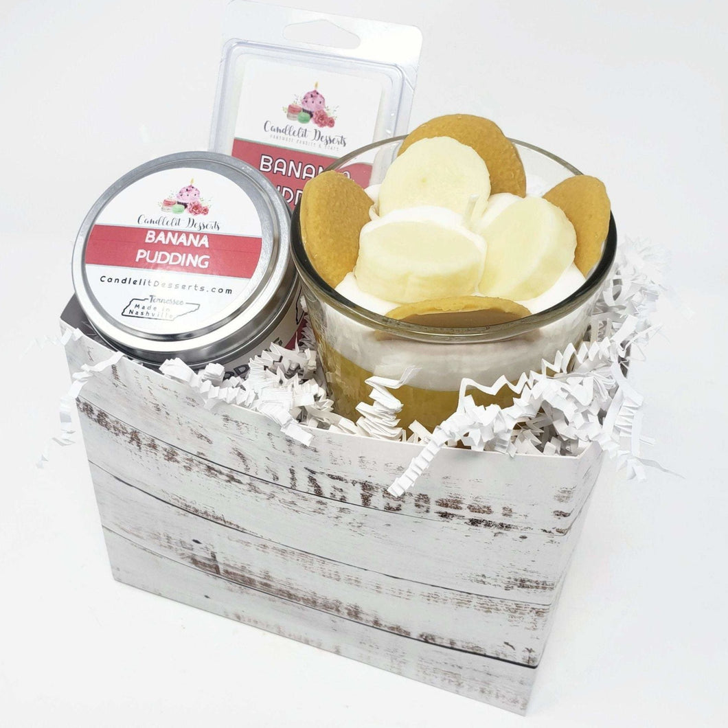 Banana Pudding Candle Gift Set