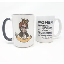 Load image into Gallery viewer, 15 oz Extra Large Coffee Mug - Notorious RBG