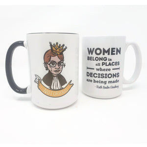 15 oz Extra Large Coffee Mug - Notorious RBG