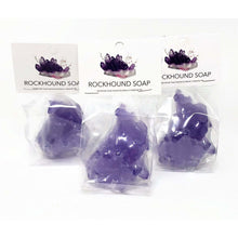 Load image into Gallery viewer, Crystal Shaped Soap - Vegan, Glycerin Base - Cobalt - Choose Your Scent