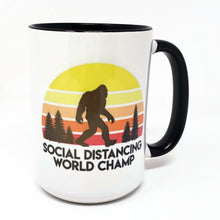 Load image into Gallery viewer, 15 oz Extra Large Coffee Mug - Social Distance World Champ