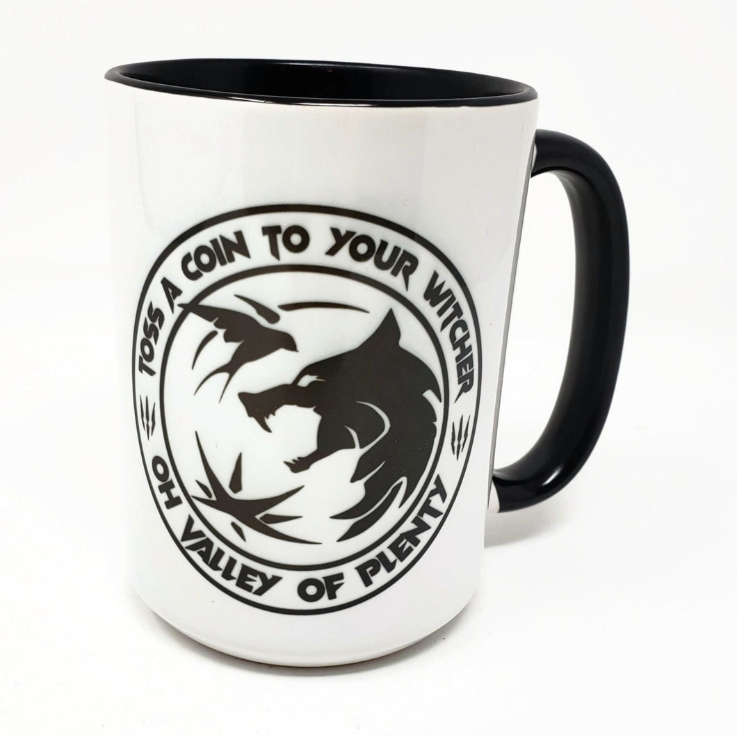 15 oz Extra Large Coffee Mug - Toss a Coin to your Witcher