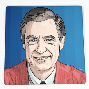 "Sandstone ""Thirsty Stone"" Coaster  - Mr Rogers"