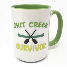 Load image into Gallery viewer, 15 oz Extra Large Coffee Mug - Sh!t Creek Survivor