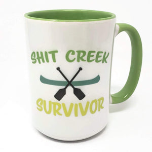 15 oz Extra Large Coffee Mug - Sh!t Creek Survivor