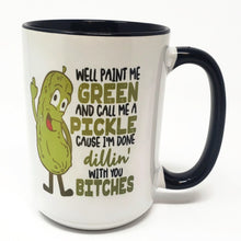 Load image into Gallery viewer, Extra Large 15 Oz Mug - Call Me a Pickle