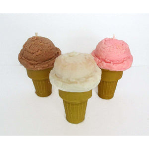 Scented Ice Cream Cone Candles - Choose your Flavor