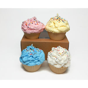 Set of Four Cupcake Candles