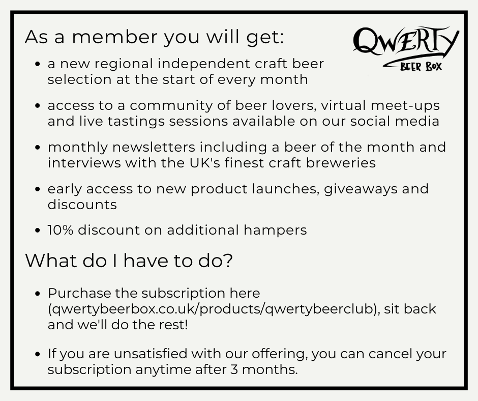 QWERTY Beer Club Monthly Subscription