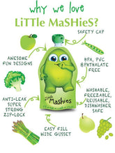 Load image into Gallery viewer, LITTLE MASHIES REUSABLE FOOD POUCH  2 PACK