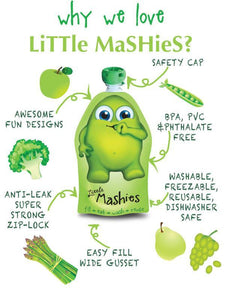 LITTLE MASHIES REUSABLE FOOD POUCH  2 PACK