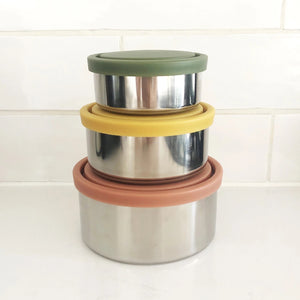 STAINLESS STEEL ROUND CONTAINERS AUTUMN COLLECTION