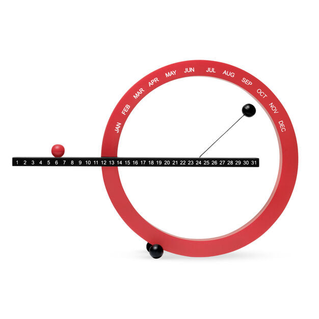 Perpetual Calendar, Red and Black, Small