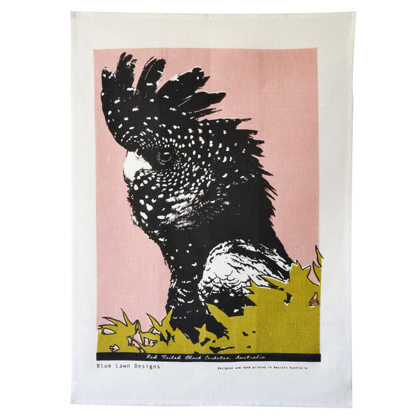 Tea Towel Red Tailed Black Cockatoo