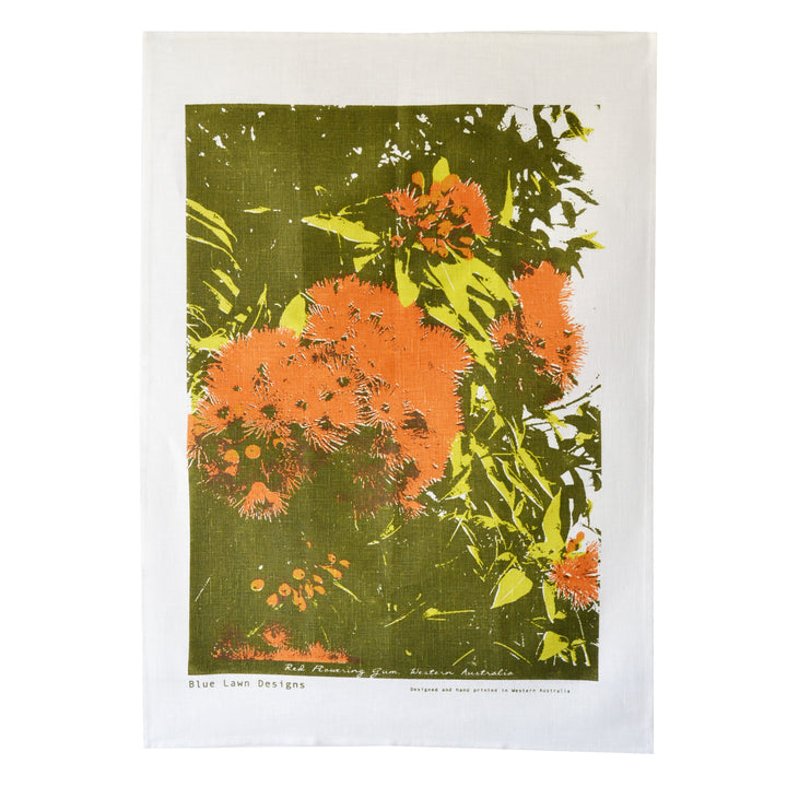 Tea Towel Red Flowering Gum