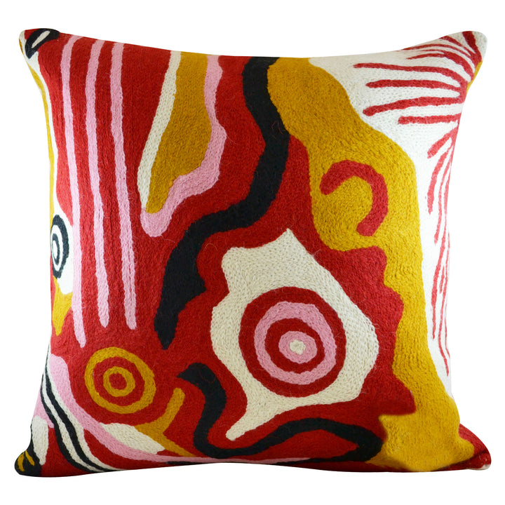 Cushion Cover 40cm Damien and Yilpi Marks Red Ochre