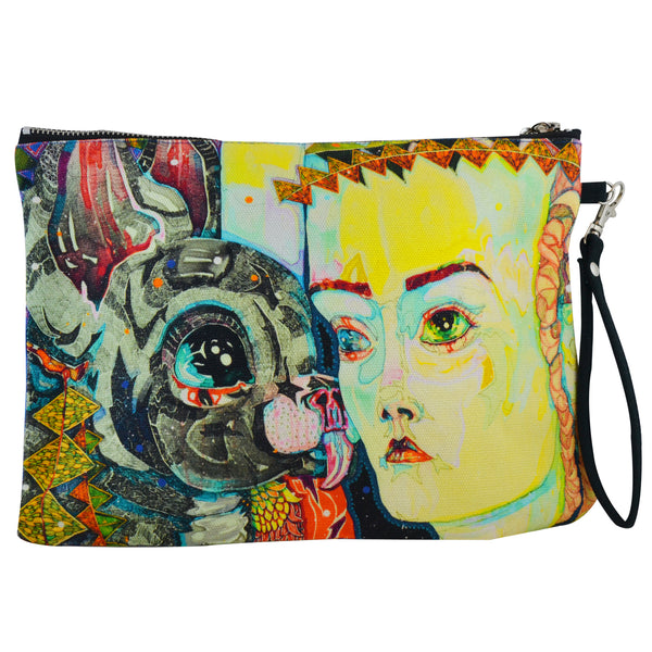 Del Kathryn Barton 'My Mother is Awake Now' Clutch