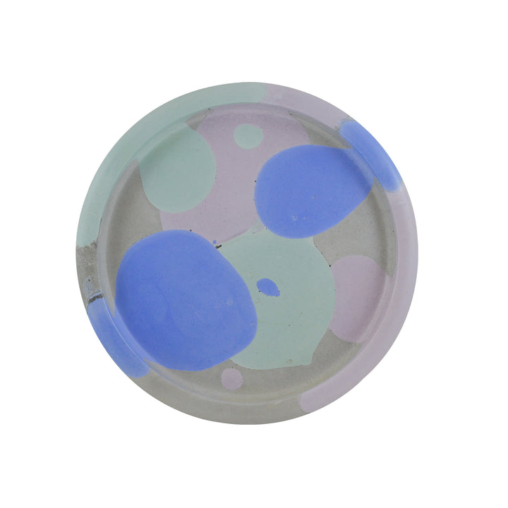 Round Concrete Tray Blue