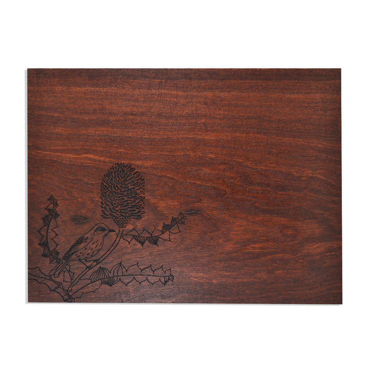 Serving Board Small Banksia Bird