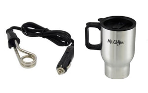 Beverage Heater and Travel Mug (plug and mug)
