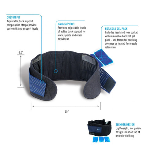 Back Belt with Hot & Cold Gel Pack