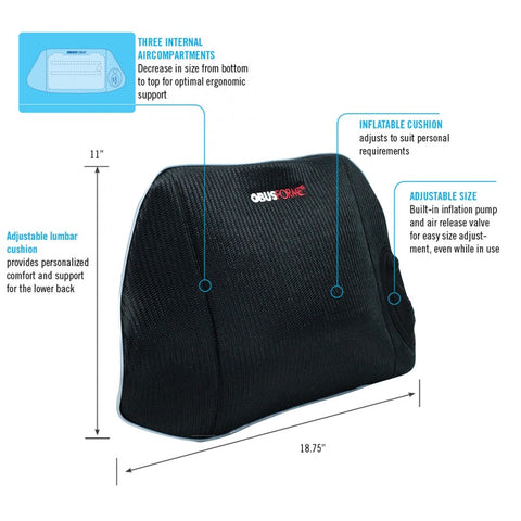 CustomAir™ Adjustable Lumbar Cushion