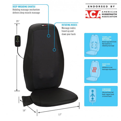 Deep Kneading Shiatsu Massage Cushion with Heat