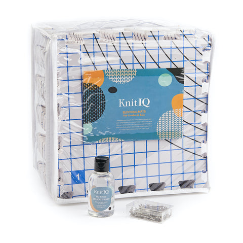 KnitIQ Crochet Mat Bundle with 4 oz No Rinse Delicate Wash