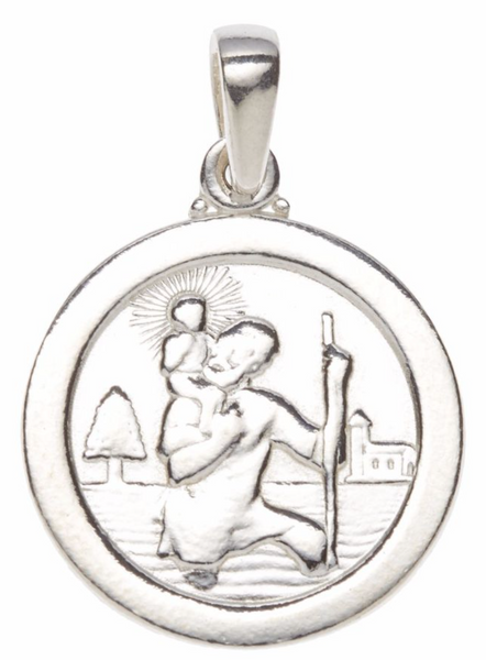 Silver St Christopher (large) SH53006