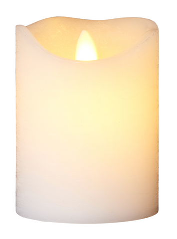 Sirius Sara White LED Wax Candle 12.5cm