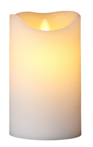 Sirius Sara White LED Wax Candle 15cm