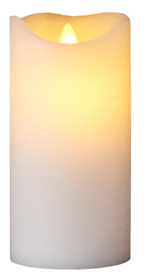Sirius Sara White LED Wax Candle 20cm